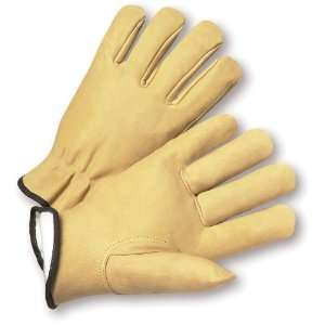 West Chester 9940KT Leather Glove, Shirred Elastic Wrist Cuff, 10.75