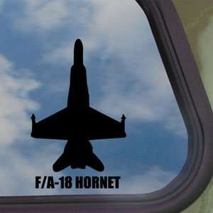 F A 18 HORNET Black Decal Military Soldier Window Sticker