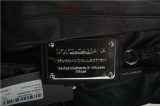NEW DOLCE & GABBANA BLACK LEATHER MISS CURLY XLARGE HOBO BAG