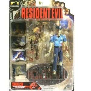 Resident Evil  Zombie Cop with Licker (Blue Shirt) Action