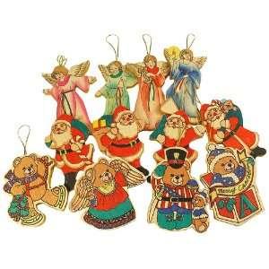Club Pack of 144 Angel, Santa Claus and Bear Christmas