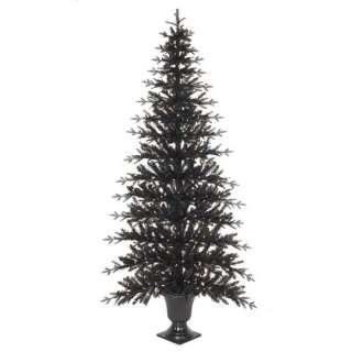 NEW RAZ Pink Flat Pre Lit Christmas Tree w Urn space saving slim
