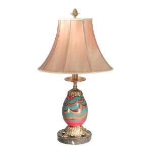 Dale Tiffany PG50142 Splendor Lamp, Antique Bronze and