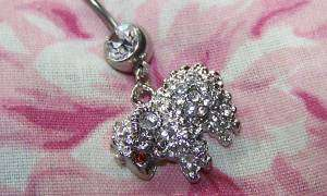 oligos StuNNiNg Diamonte SHEEP RAM aries ~ belly ring