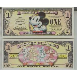 Mint Disney Dollar *Mickey*80th Anniversary: Everything