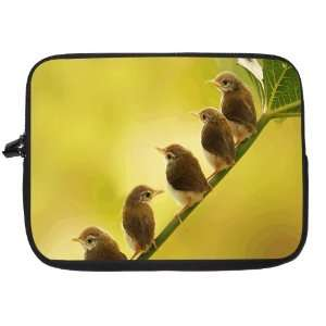 Baby Birds on Branch Laptop Sleeve   Note Book sleeve