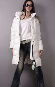 Ladies Genuine Duck Down Fill hoody Jacket coat winter
