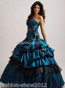 NEW Embroidery Bridal Gown Quinceanera Wedding evening formal prom
