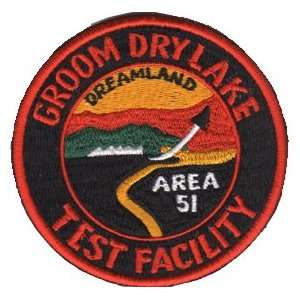 Area 51 Groom Dry Lake Hangar 18 Patch Office Products