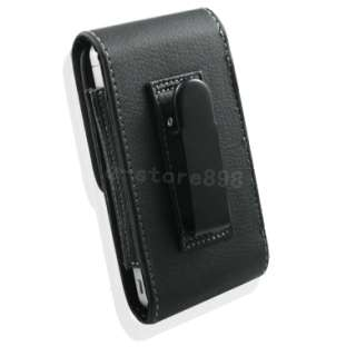 Leather Case Belt Clip Pouch + LCD Film For NOKIA N8 t
