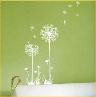 WINDY FLOWER DANDELION Removable Wall Decals SS26