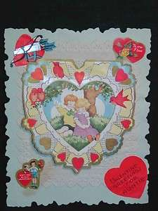 Antique Early 1900s DIECUT VALENTINES CARD Prob. German