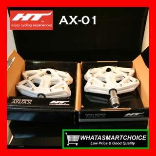 NEW AX01 WHITE Mountain & BMX Bicycle Bike Pedals