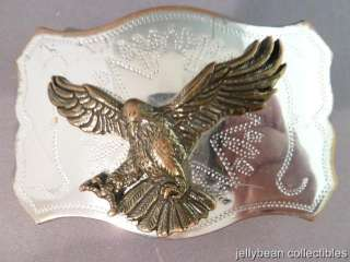 Eagle Belt Buckle Silver & Gold Colored