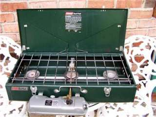 Coleman Powerhouse Model 428 Dual Fuel 3 Burner Camping vintage Stove