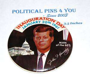 Pin pinback button badge political JOHN F. KENNEDY JFK
