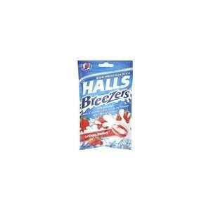 Halls Fruit Breezers Throat Drops Cool Creamy Strawberry