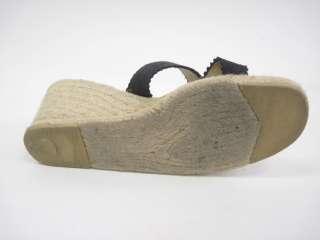KORS MICHAEL KORS Black Espadrilles Wedges Sandals 10