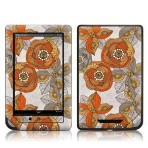 Orange and Grey Flowers Design Protective Decal Skin