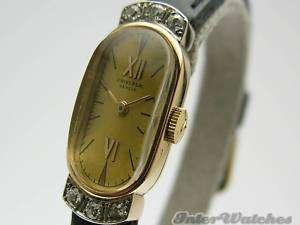 Universal Classic 18K Pink Gold Diamonds Oval Shaped