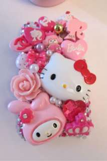 HELLO KITTY IPHONE 3G 3GS PINK BLING CELL PHONE CASE COVER