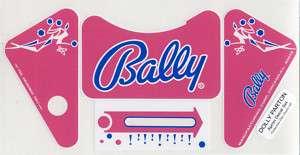 Dolly Parton Pinball Machine APRON DECAL SET