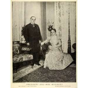 1898 Print U. S. Political President McKinley Wife