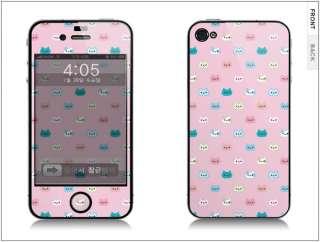 APPLE IPHONE 4G Skin Cover Sticker CUTE CAT + CLEANER