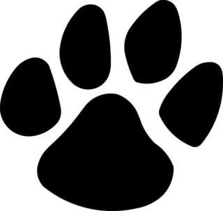 PANTHER PAW FOOTPRINT Vinyl Decal Sticker