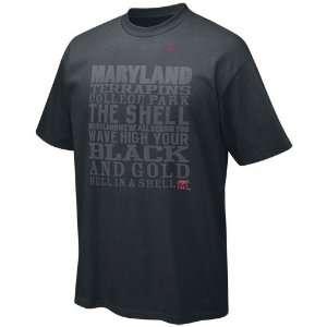 Terrapins Black Print Plate T shirt