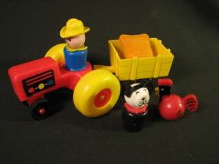 Vintage Fisher Price Little People Play Family Farm Fun Friends Barn