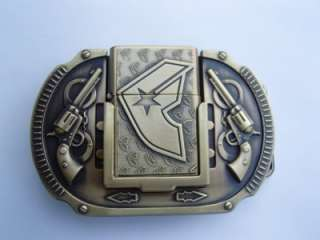Famous Stars and Straps LIGHTER BELT BUCKLE Brass gift