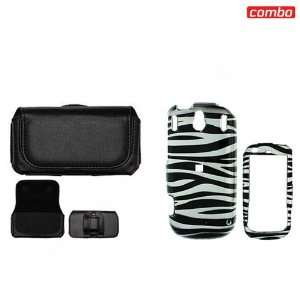 Palm Pixi CDMA Sprint Combo Black/White Zebra Design Protective Case
