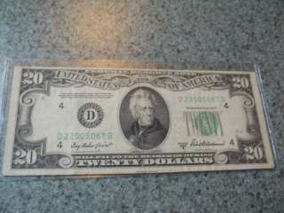 1950B $20 Federal Reserve Note Cleveland Twenty Dollars |