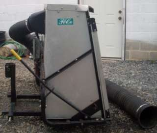 Peco Pro 3 point hitch 8hp Leaf Vacuum   1 Hand Dump From Your Seat
