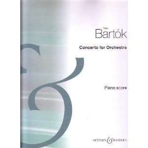 Concerto for Orchestra (Piano score by the composer) Béla Bartók