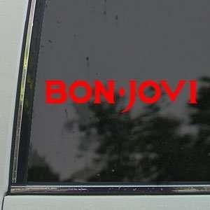 Bon Jovi Red Decal Jon Rock Band ruck Window Red Sicker