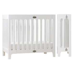 BloomBaby Alma Urban Mini Folding Crib in White Baby