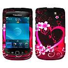 AT&T BlackBerry 9800 Torch Purple Love 2D Silver Accessory Case Cover