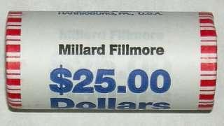 2010 MILLARD FILLMOE PRES. GOLD $1.00 ROLL 25 ALL BU