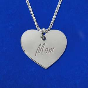 Mothers Jewelry  Personally Engraved Heart Necklace