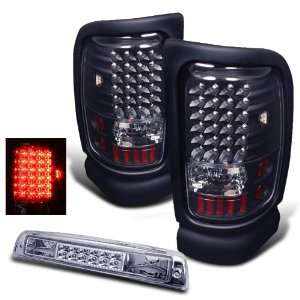 94 01 Dodge Ram Black LED Tail Lights + LED Brake Light Automotive