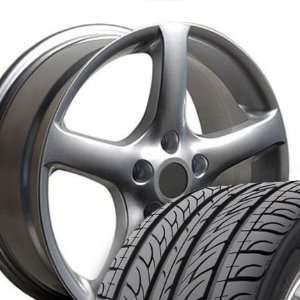 Style Wheels and Tires Fits Nissan   Silver 17x7 Set of 4 Automotive