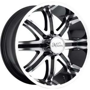22x9.5 Milanni Kool Whip 8 8x170 +18mm Black Machined Wheels Rims Inch