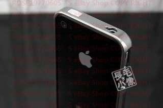 PR0454 Grey Aluminium Bumper Metal Case Cover for Genuine Apple iPhone