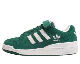 Adidas Originals Forum Lo RS Forst Green Suede White Mens Casual Shoes