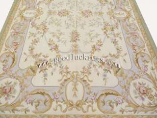 x9 Hand woven Wool French Aubusson Flat Weave Rug~Brand New~Free