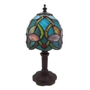 Stained Glass Mini Accent Lamp Light   Magnolia Flower