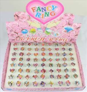 Disney Princess Plastic Rings Kids Girl Birthday Party Gifts