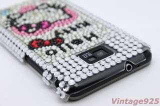 Hello Kitty Samsung Galaxy S 2 II i9100 BLING Back Case